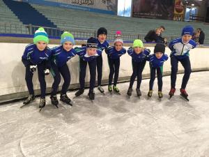 Eerste schaatstrainingen