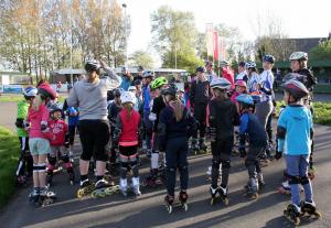 Starten van het inline-skate seizoen.