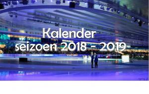 Schaatskalender 2018-2019