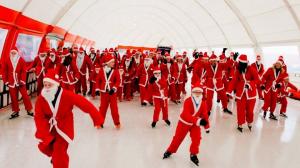 Kerstmannen in Rotterdam
