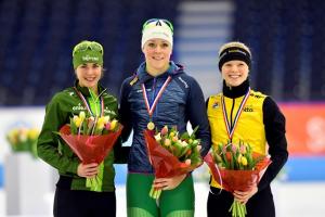 Sanneke 3e bij de 500 m NK