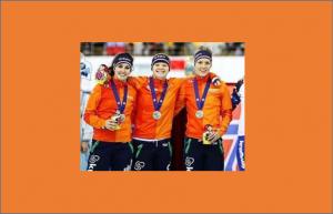 2e Teamsprint M  Kuipers,  S  de Neeling,  L  de Jong,